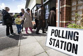 A polling station in Easton, Bristol - Paul Box - ,2010s,2015,BAME,BAMEs,Black,BME,bmes,cities,city,communicating,communication,democracy,diversity,election,elections,ethnic,ethnicity,FEMALE,General Election,local elections,minorities,minority,people