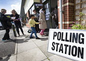 A polling station in Easton, Bristol - Paul Box - 2010s,2015,BAME,BAMEs,Black,BME,bmes,cities,city,communicating,communication,democracy,diversity,election,elections,ethnic,ethnicity,FEMALE,General Election,ISLAM,ISLAMIC,local elections,minorities,mi
