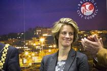 Charlotte Leslie, Conservative Party wins . Bristol North West, General Election count, St George, Bristol. - Paul Box - 08-05-2015