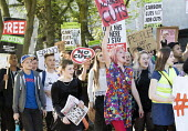Anti-austerity protest organised by a group of seven teenagers on social media. Bristol. - Paul Box - 13-05-2015
