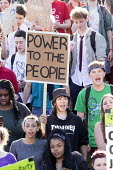 Power to the people. Anti-austerity protest organised by a group of seven teenagers on social media. Bristol. - Paul Box - 13-05-2015