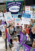 Protest against Virgin Care �28 million privatisation of NHS Childrens services Bristol - Paul Box - 26-08-2015