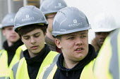 Pupils visit new energy efficient homes, Barratt Homes, Hanham Hall, Bristol - Paul Box - 2010s,2015,adolescence,adolescent,adolescents,boy,boys,builder,builders,building,building site,BUILDINGS,child,CHILDHOOD,children,cities,city,Construction Industry,EBF,Economic,Economy,EDU,educate,edu