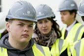Pupils visit new energy efficient homes, Barratt Homes, Hanham Hall, Bristol - Paul Box - ,2010s,2015,adolescence,adolescent,adolescents,boy,boys,builder,builders,building,building site,BUILDINGS,child,CHILDHOOD,children,cities,city,Construction Industry,EBF,Economic,Economy,EDU,educate,ed