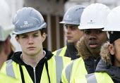 Pupils visit new energy efficient homes, Barratt Homes, Hanham Hall, Bristol - Paul Box - 2010s,2015,adolescence,adolescent,adolescents,BAME,BAMEs,black,BME,bmes,boy,boys,builder,builders,building,building site,BUILDINGS,child,CHILDHOOD,children,cities,city,Construction Industry,cultural,d