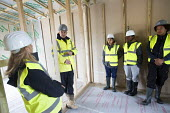 Pupils visit new energy efficient homes, Barratt Homes, Hanham Hall, Bristol - Paul Box - ,2010s,2015,adolescence,adolescent,adolescents,BAME,BAMEs,black,BME,bmes,boss,bosses,boy,boys,builder,builders,building,building site,Building Worker,buildings,child,CHILDHOOD,children,cities,city,com