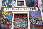 Star and Garter pub, St Pauls, Bristol - Paul Box - 2010s,2015,cities,City,EBF,Economic,Economy,Graffiti,LICENSED,no,PARKED,parking,pub,Public House,PUBLIC HOUSES,PUBS,restriction,restrictions,scene,scenes,street,streets,Urban