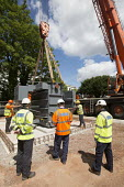 Electrical engineers installing new transformers at substation, Clifton, Bristol - Paul Box - 23-06-2015