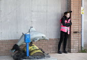 Dismaland a parody of Disneyland theme park by Banksy, Weston Super Mare. A Bemusement Park staffed by morose Dismaland guides who are uninterested in being helpful or remotely informative. Reconditio... - Paul Box - 27-08-2015