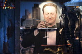 David Cameron by by Peter Kennard and Cat Phillips at the Bemusement Park Dismaland a parody of Disneyland theme park by Banksy, Weston Super Mare - Paul Box - 27-08-2015