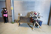 Dismaland a parody of Disneyland theme park by Banksy, Weston Super Mare. Seagull attack at the Bemusement Park staffed by morose Dismaland guides who are uninterested in being helpful or remotely inf... - Paul Box - 27-08-2015
