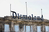 Dismaland a parody of Disneyland theme park by Banksy, Weston Super Mare. A Bemusement Park. - Paul Box - 2010s,2015,ACE,art,arts,artwork,artworks,attraction,Banksy,culture,dystopia,dystopian,exhibition,funny,Humor,humorous,humour,installation,ironic,irony,JOKE,JOKES,joking,outdoors,parks,satire,satirist,