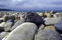 A stoney beach Pembrokeshire. Newgale beach Wales - Paul Box - 01-12-2003