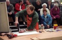 B&Q Bristol, Staff training the public in DIY skills - Paul Box - 01-11-2002