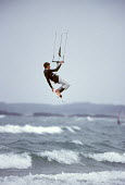 Kite surfer above the waves. - Paul Box - 18-07-2003