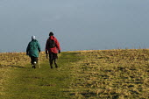 Walkers on coastal path, Pembrokeshire , Wales - Paul Box - 11-01-2004