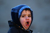 A young boy yawns - Paul Box - 2000s,2004,a,appealing,boy,boys,charming,child,CHILDHOOD,children,cute,exhausted,EXHAUSTION,infancy,infant,infants,juvenile,juveniles,kid,kids,LFL Lifestyle leisure,male,man,people,person,persons,slee