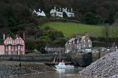 Hotel, cottages and harbour, Porlock Weir Somerset - Paul Box - 10-01-2004