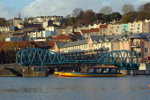 Bristol docks with ferry and swing bridge. - Paul Box - 28-11-2003