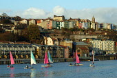 Bristol docks with sailing dinghies - Paul Box - 28-11-2003