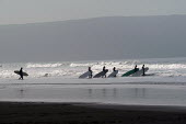A surf school at Woolacombe in Devon. - Paul Box - 12-02-2004
