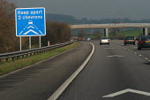 Motorway chevrons to slow down traffic. Accident prevention. - Paul Box - 16-02-2004