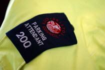 A parking attendant badge , Bristol - Paul Box - council services,2000s,2004,attendant,attendant attendants,ATTENDANTS,car cars,cities,city,civil enforcement officer,contro,council services,council services,council worker,employee,employees,Employme