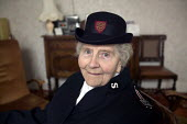 A 90 year woman who lives on her own in Bristol wearing her Salvation Army uniform old Bristol - Paul Box - 20-03-2004