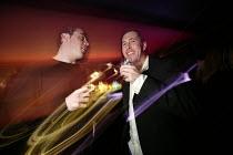 Men enjoy them selves at a bar in Bristol - Paul Box - 05-04-2004