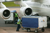 Exeter airport, ground staff and baggage handlers at work. - Paul Box - 10-06-2004