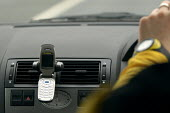 A car with hands free mobile phone holder. - Paul Box - 02-07-2004