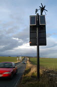 A solar powered road sign. - Paul Box - 02-07-2004