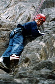 Connexions take teenagers on an activity day, climbing in the Mendip Hills - Paul Box - 2000s,2004,activity,adolescence,adolescent,adolescents,boy,boys,child,CHILDHOOD,children,climb,climber,climbers,climbing,Connexions,edu,educate,educating,education,educational,Hills,juvenile,juveniles