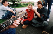 Teenagers at a youth centre in south Bath. - Paul Box - 02-08-2004