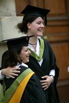 A student at a graduation ceremony, Bath. - Paul Box - 01-07-2004