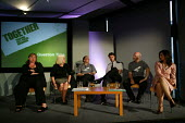 The panel at the launch of the ASBO scheme, Bristol - Paul Box - ,2000s,2004,anti social behavior,anti social behaviour,anti socialanti social behavior,antisocial,antisocial behaviour order,ASBO,asbos,cities,city,CLJ crime,launch,scheme,urban