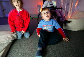 Chadsgrove school, bromsgrove children with physical disabilities in the new sensory room. - Paul Box - 2000s,2004,bifida,bound,boy,boys,Cerebral Palsy,child,CHILDHOOD,children,difficulties,DIFFICULTY,difficuty,disabilities,disability,disable,disabled,disablement,dystrophy,EDU Education,impaired,impairm