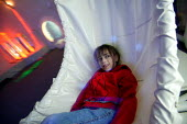 Chadsgrove school, bromsgrove children with physical disabilities in the new sensory room. - Paul Box - 29-04-2004