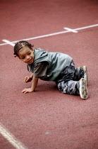 Child playing. Bristol - Paul Box - 22-07-2004