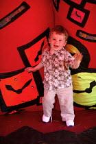 International kite festival, Bristol . A child inside an inflatable. - Paul Box - 05-09-2004