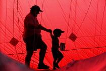 International kite festival, Bristol. Inside the worlds largest kite. - Paul Box - 05-09-2004