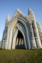An inflatable church at The international kite festival Bristol - Paul Box - 05-09-2004