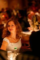 The Aurora cruise ship, a P&O cruise ship. A guest enjoys her evening meal. - Paul Box - 02-06-2004