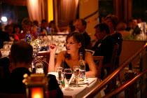 The Aurora cruise ship, a P&O cruise ship. Guests enjoy the evening meal. - Paul Box - 02-06-2004