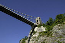 Bristol Landmark. Clifton Suspension bridge designed in 1850 by Isambard Kingdom Brunel - Paul Box - 30-11-2004