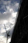 Scaffolding and crane, construction site, Bristol - Paul Box - 01-11-2004