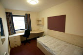 A students bedroom. The University of Bath. - Paul Box - 2000s,2004,accommodation,bedroom,BEDROOMS,digs,EDU Education,halls,Higher Education,housing,LFL Lifestyle leisure,modern,of,rented,residence,room,rooms,student,students,university