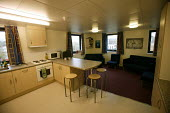 A students kitchen and lounge. The University of Bath. - Paul Box - 28-11-2004