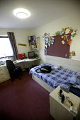 A students bedroom. The University of Bath. - Paul Box - 2000s,2004,accommodation,bedroom,BEDROOMS,EDU Education,halls,Higher Education,housing,LFL Lifestyle leisure,modern,of,rented,residence,room,rooms,student,students,university