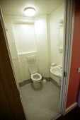 A students bathroom . The University of Bath. - Paul Box - 2000s,2004,accommodation,bathroom,EDU Education,halls,Higher Education,housing,LFL Lifestyle leisure,modern,of,residence,room,rooms,student,students,toilet,toilets,university